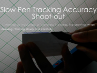 Slow drawing accuracy in pen displays